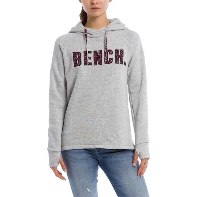 mikina BENCH - Logo Hoody Summer Grey Marl (MA1026)