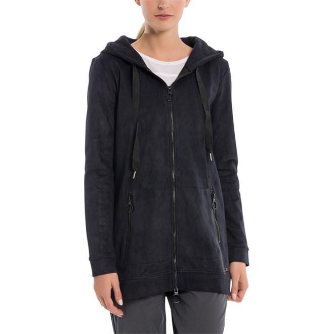 mikina BENCH - Long Hooded Zip Through Black Beauty (BK11179)