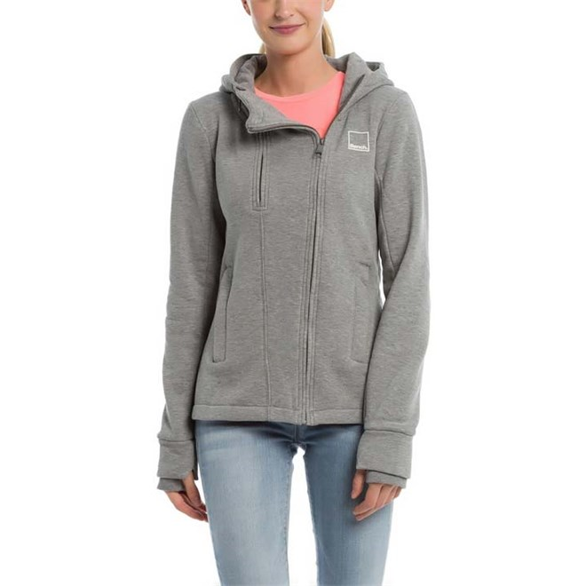 triko BENCH - Her. Double Zip Hoody Winter Grey Marl (MA1054 ... f828b205950