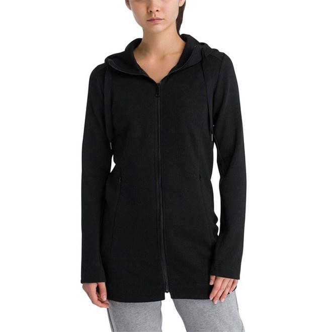 bunda BENCH - Long Embossed Neoprene Jacket Black Beauty (BK11179)