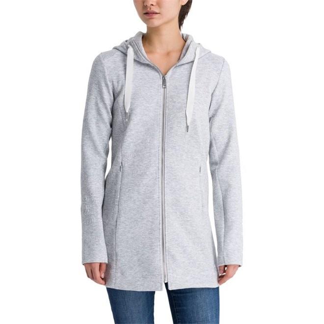bunda BENCH - Long Embossed Neoprene Jacket Summer Grey Marl (MA1026)