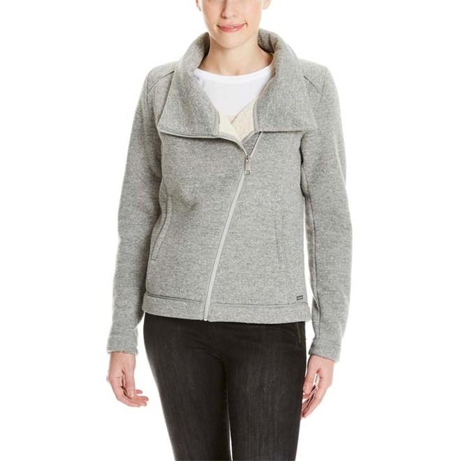mikina BENCH - Bonded Teddy Biker Jacket Winter Grey Marl (MA1054)