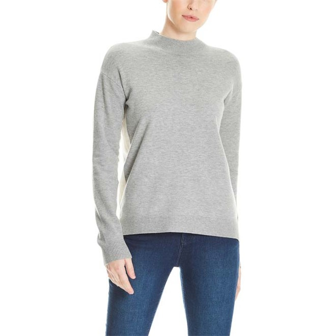 mikina BENCH - Turtle Neck Jumper Winter Grey Marl (MA1054)