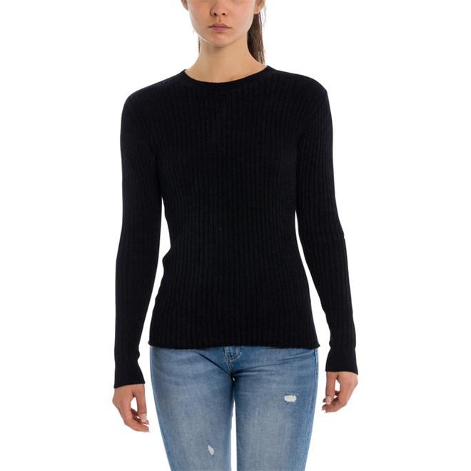 svetr BENCH - Rib Jumper Black Beauty (BK11179)
