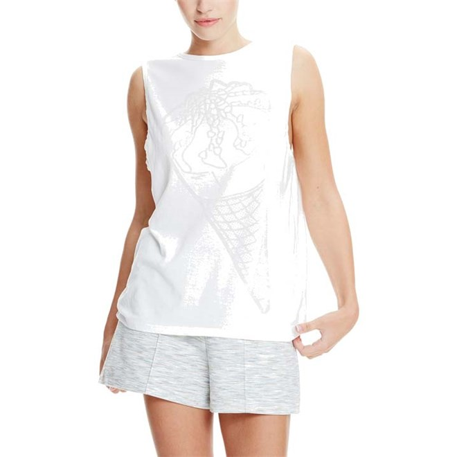 triko BENCH - Ice-Cream Burn Out Vest Bright White (WH11185)