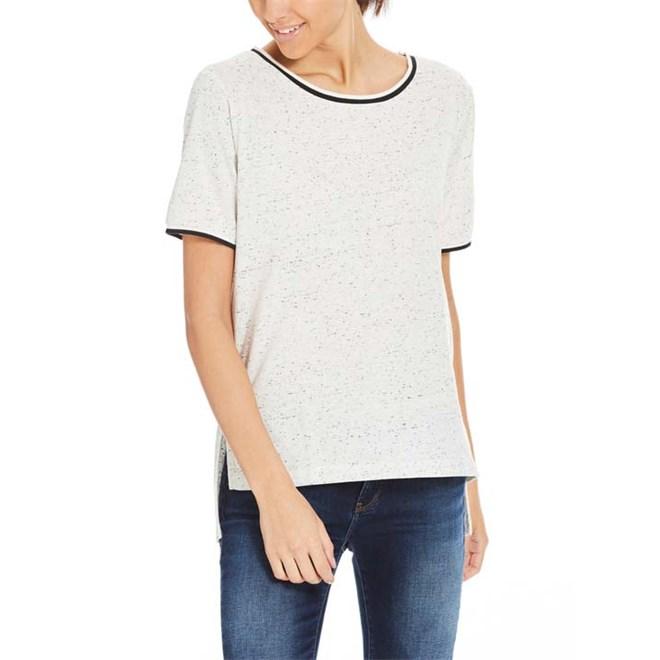 triko BENCH - T-Shirt Rib Trim Snow White Marl (MA1036)