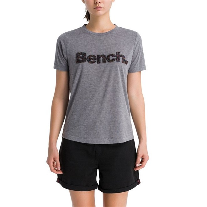 triko BENCH - Corp Logo Tee Summer Grey Marl (MA1026)