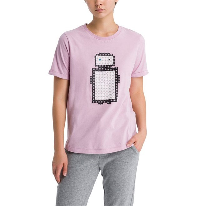 triko BENCH - Pixelman Print Tee Dawn Pink (PK11462)