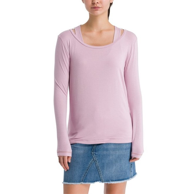 triko BENCH - Double Layer Longsleeve Dawn Pink (PK11462)