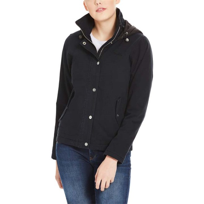 bunda BENCH - Cotton Jacket With Quilted Hood Black Beauty (BK11179)