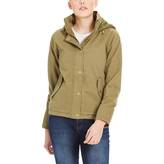 BENCH - Cotton Jacket With Quilted Hood Dark Green (KH006)