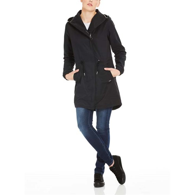 bunda BENCH - Feminine Coat With Detachable Hood Black Beauty (BK11179)