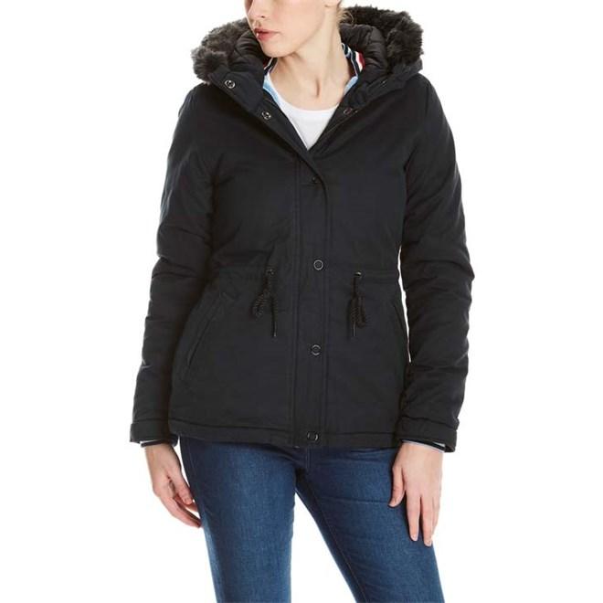 bunda BENCH - Padded Jacket With Fur Lining Black Beauty (BK11179)