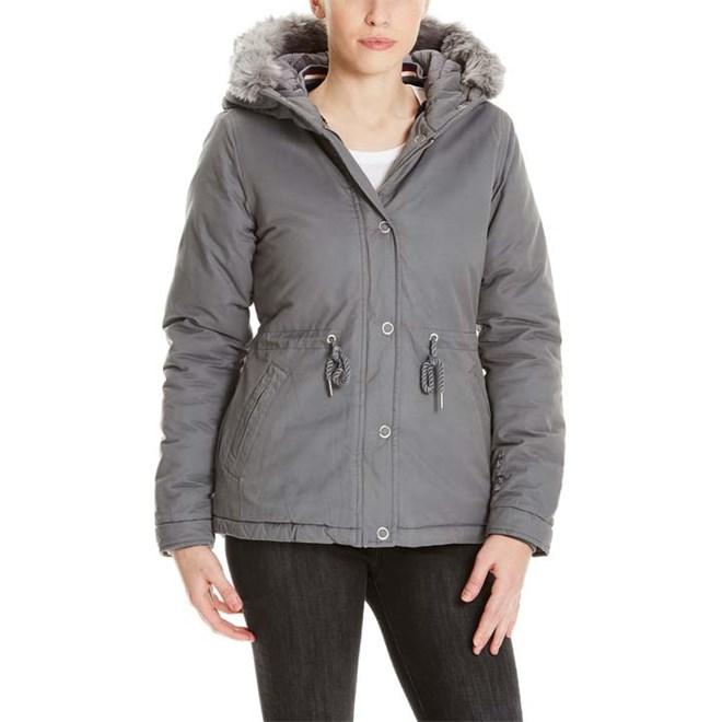 bunda BENCH - Padded Jacket With Fur Lining Dark Grey (GY149)