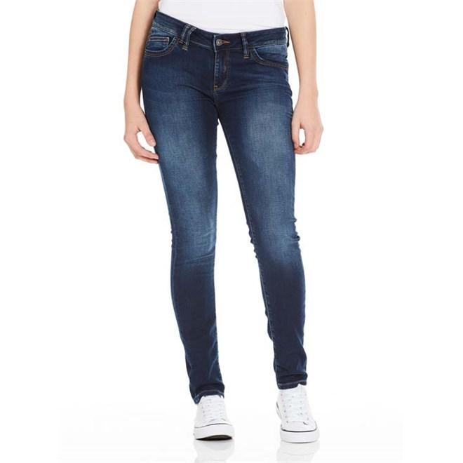 kalhoty BENCH - Skinny Sweat Denim Dark Worn Blue Dark Vintage (DW1031)