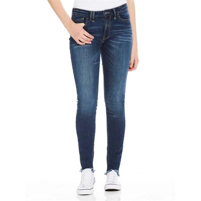 kalhoty BENCH - Skinny Mid Worn Blue Dark Worn (DW1030)