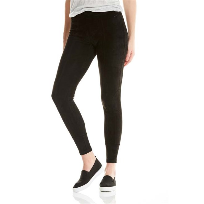 kalhoty BENCH - Velour Leggings Black Beauty (BK11179)