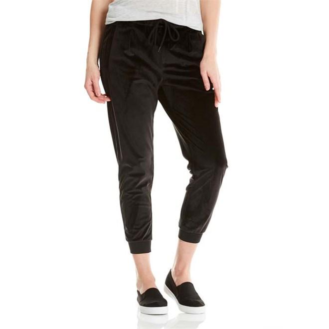 kalhoty BENCH - Velvet Woven Pant Black Beauty (BK11179)