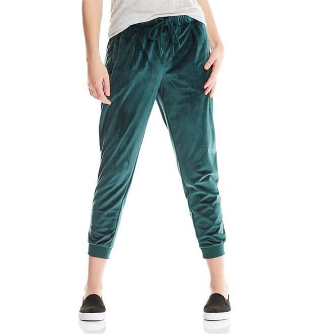 kalhoty BENCH - Velvet Woven Pant Dark Green (GR163)