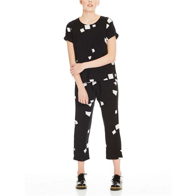 kombinéza BENCH - Jumpsuit Aop Simple Graphic Black Beauty +  (P1087)