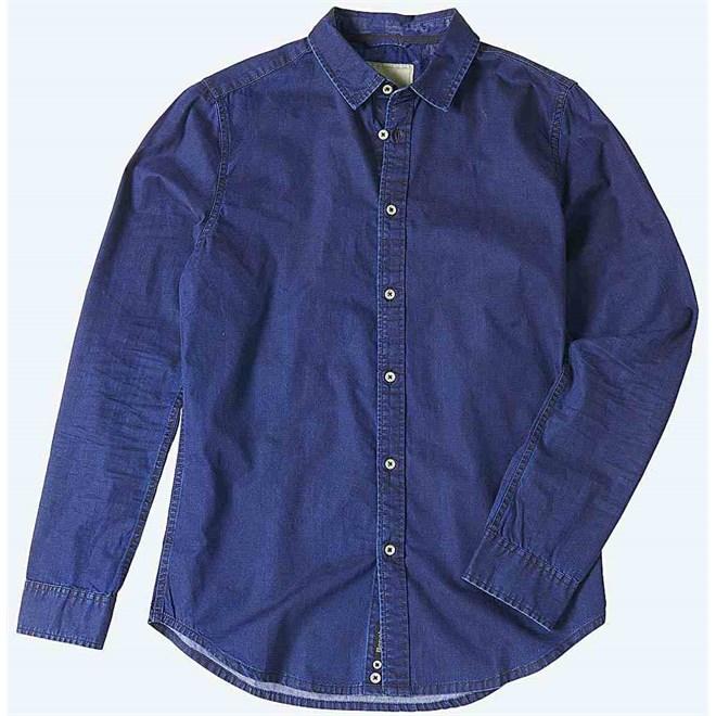 košile BENCH - Glint Dark Rinse (WA017)