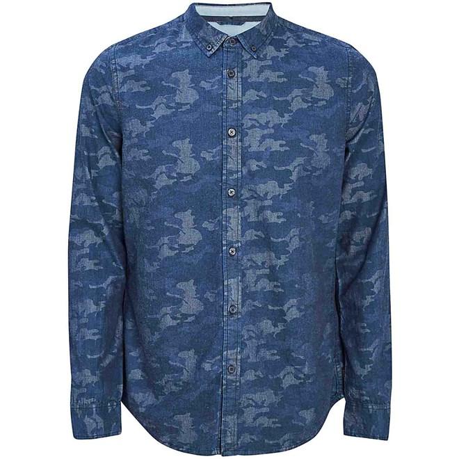 košile BENCH - Monogram Dark Navy Blue (NY031)