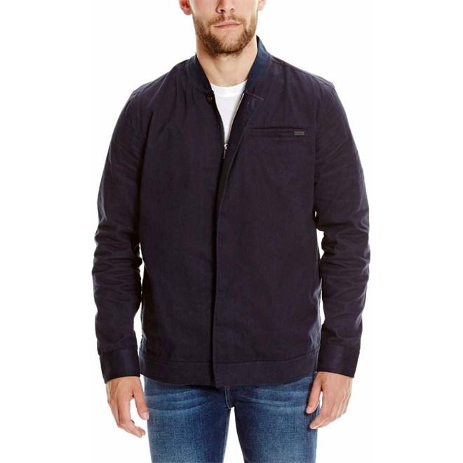 košile BENCH - Zip Detail Overshirt Dark Navy Blue (NY031)