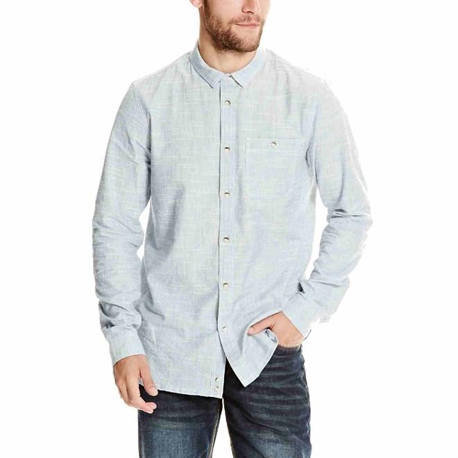 košile BENCH - Linear Neps Dark Navy Blue (NY031)