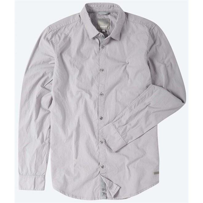 košile BENCH - Crinkle Cotton Light Grey (GY003)