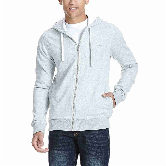 mikina BENCH - Hoodie With Backprint High Rise Marl (GY003X)