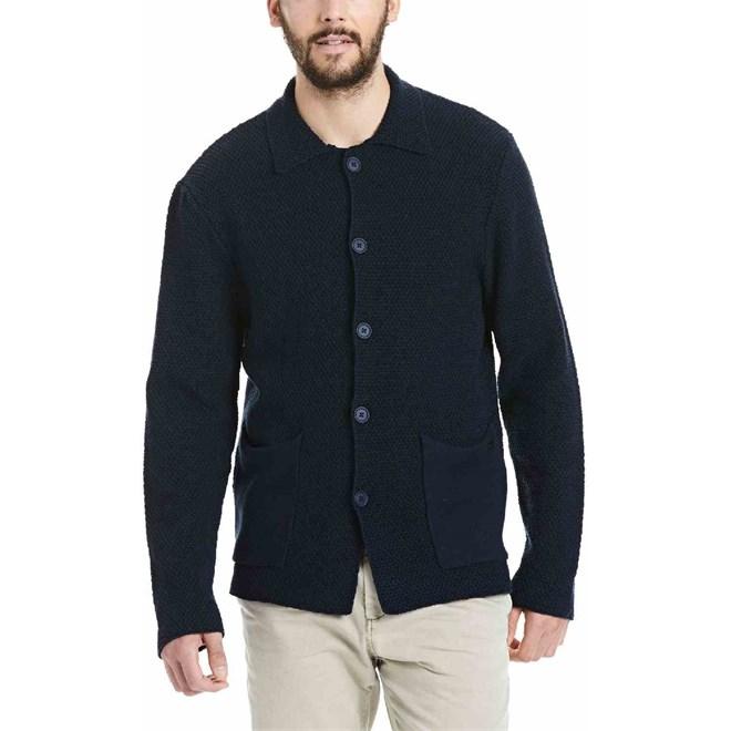 mikina BENCH - Knitwear Dark Navy Blue (NY031)