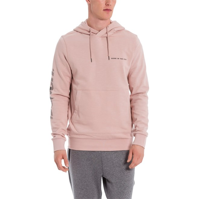 mikina BENCH - Beach Logo Hoody Dark Blush (PU122)