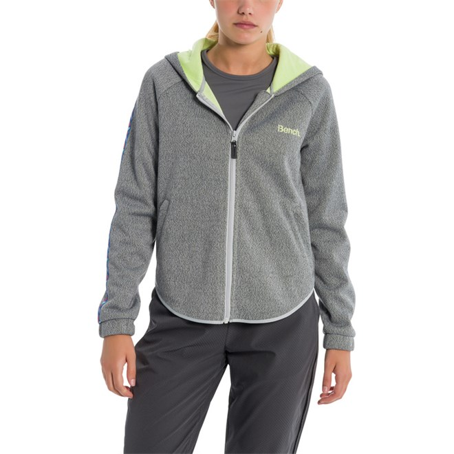 mikina BENCH - Big Gauge Knit Light Grey Marl (MA1105)