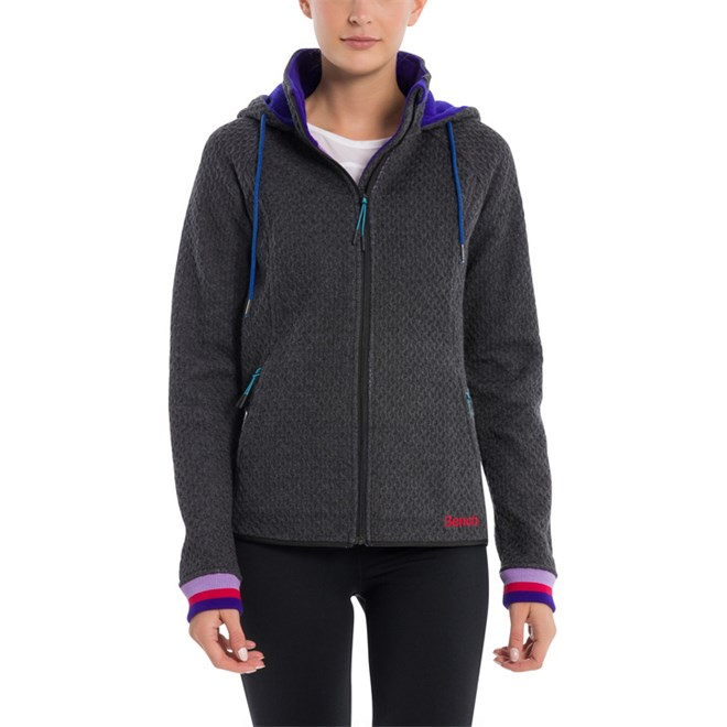 mikina BENCH - Piquet Knit Anthracite Marl (MA1017)