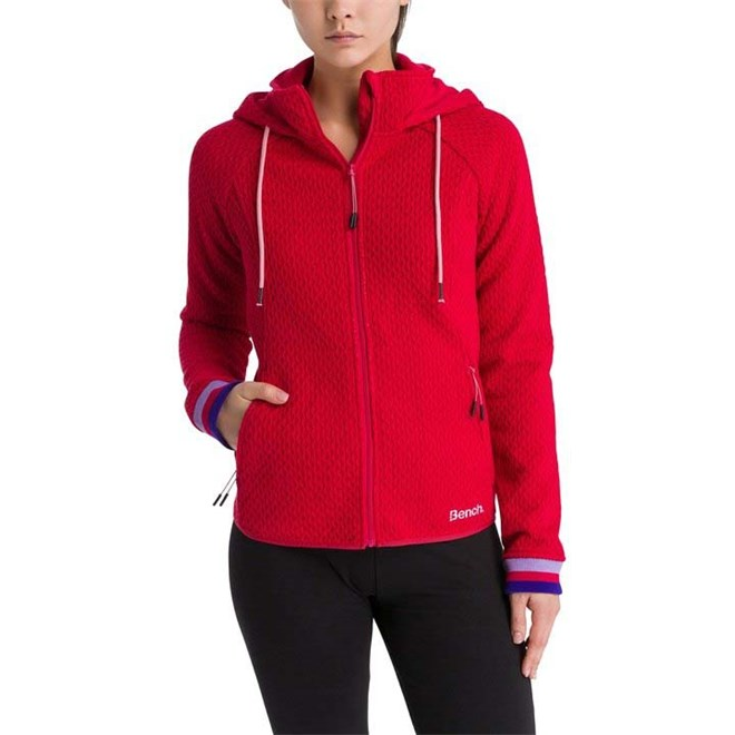 mikina BENCH - Piquet Knit Jalapeno Red Marl (MA1092)