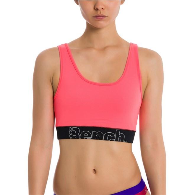tílko BENCH - Bralette Neon Bright Pink As Swatch (PK11423)