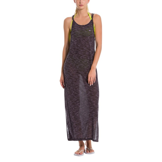 šaty BENCH - Maxi Dress Anthracite Marl (MA1017)