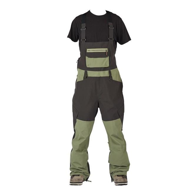 kalhoty SESSIONS - Bleach Bib Olive (OLV)