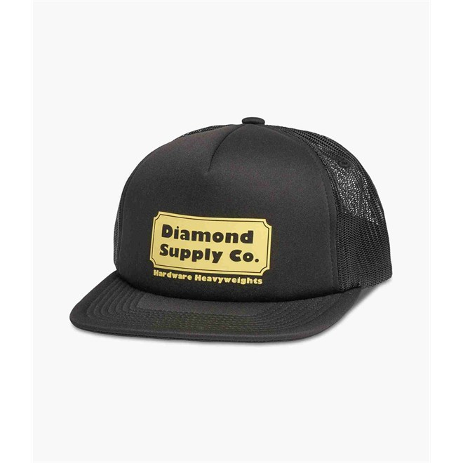 kšiltovka DIAMOND - Hardware Trucker Hat W/ Rope Black (BLK)