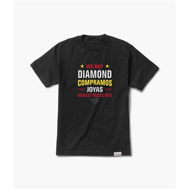 triko DIAMOND - Jewelers Row Tee Black (BLK)