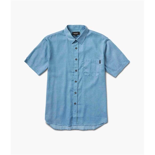 košile DIAMOND - Dmnd Repeat Chambray Ss Woven Light Blue *Do Not Use* (LTBL)