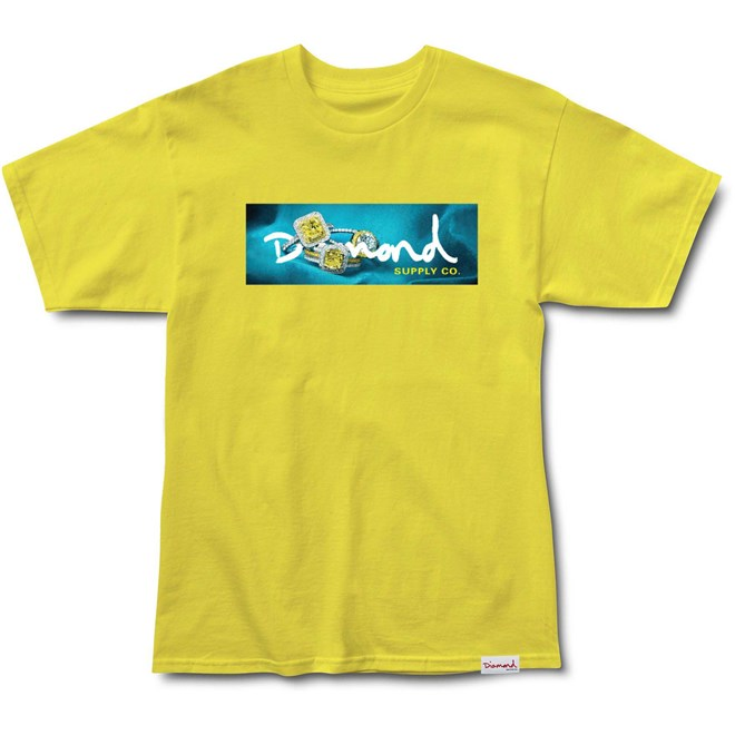 koszulka DIAMOND - Citrine Box Logo S/S Tee Yellow (YEL)
