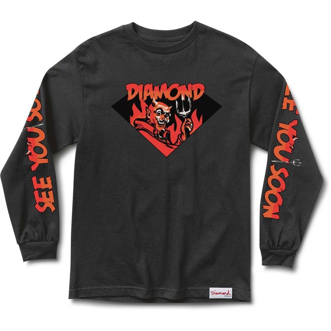 triko DIAMOND - See You Soon L S Tee Black (BLK) velikost  SM ... 90a62dba9ecb4