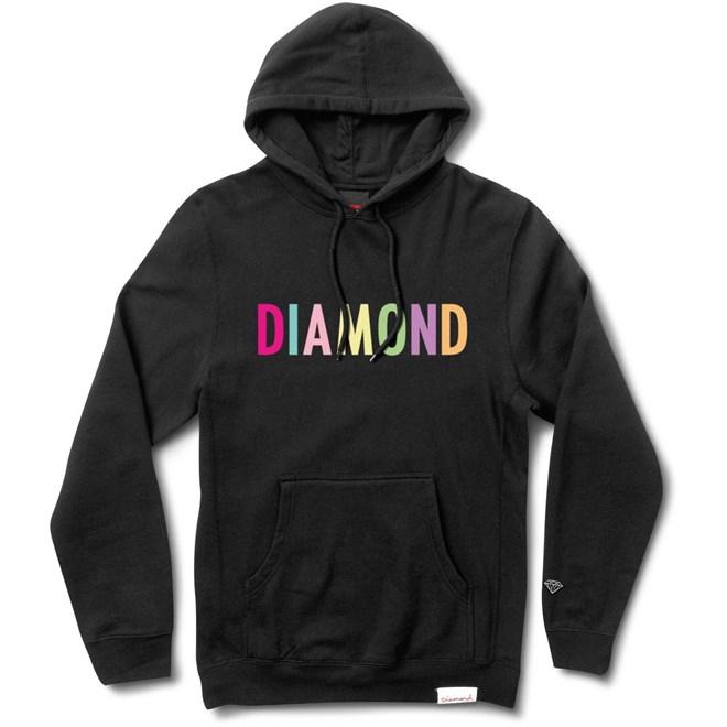 mikina DIAMOND - Colour Pop Hoodie Black (BLK)