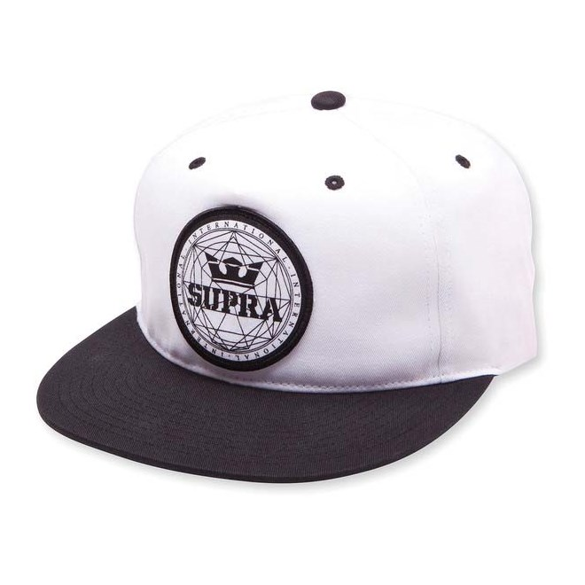 kšiltovka SUPRA - Geo Patch Slider Hat Black/White (002)