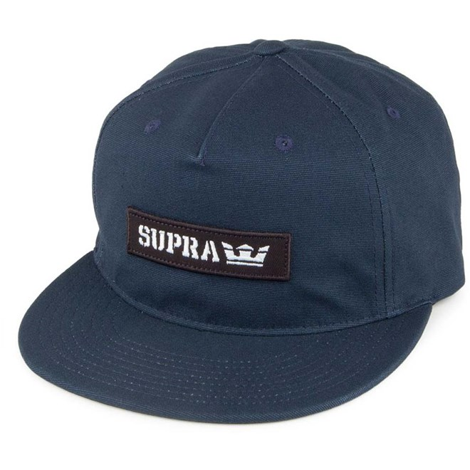 kšiltovka SUPRA - Mark Patch Snap Navy (401)