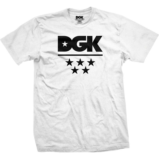 triko DGK - All Star Tee White (WHITE)