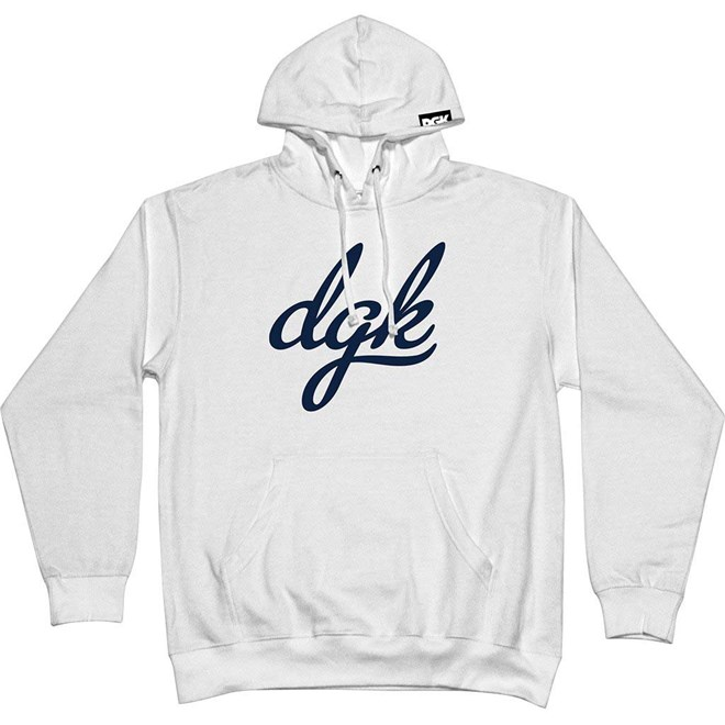 mikina DGK - Script Hooded Fleece White (WHITE)