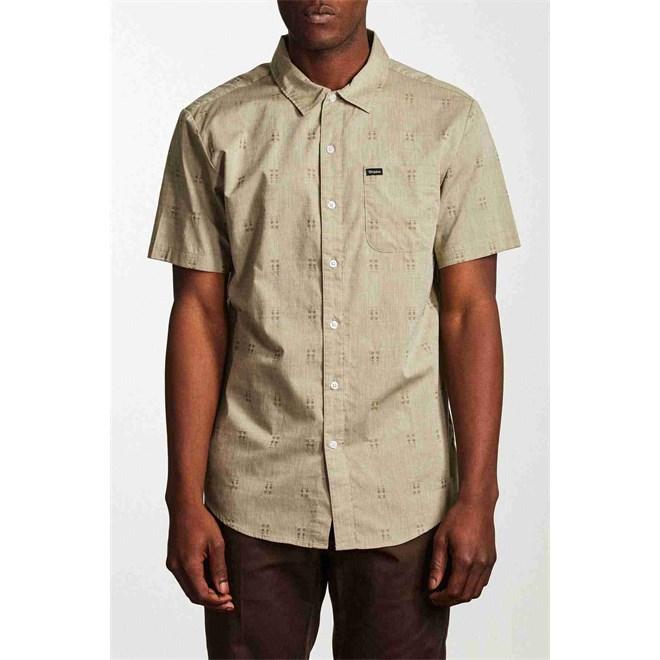 košile BRIXTON - Charter S/S Wvn Sage (SAGE)