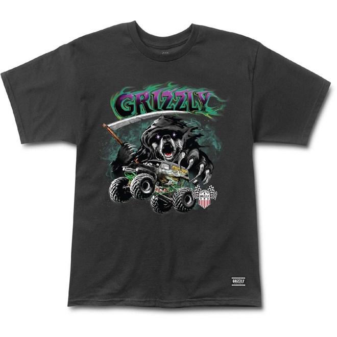 triko GRIZZLY - Cavedigger S/S Tee Black (BLK)